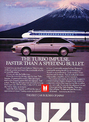 1986 1987 Isuzu Turbo Impulse - Train - Classic Vintage Advertisement Ad D74