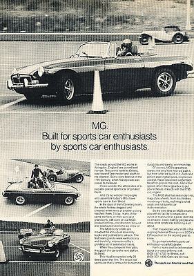 1973 MG MGB - Cone - Classic Vintage Advertisement Ad D76
