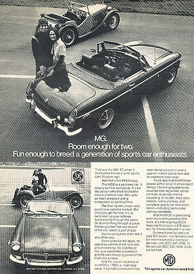 1973 MG MGB - Parking Lot - Classic Vintage Advertisement Ad D75