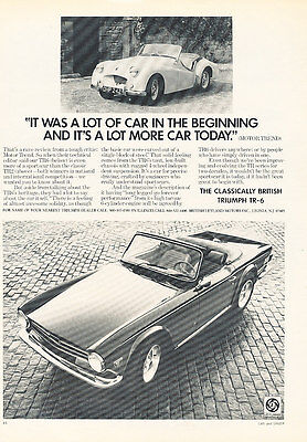 1973 Triumph TR-6 - Brick - Classic Vintage Advertisement Ad D75