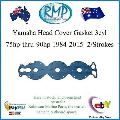 A Brand New Yamaha Head Cover Gasket 3cyl 1984-2015  2/Strokes #  688-11193-00