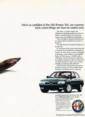 1991 Alfa Romeo 164 - 2-page green - Classic Vintage Advertisement Ad H08