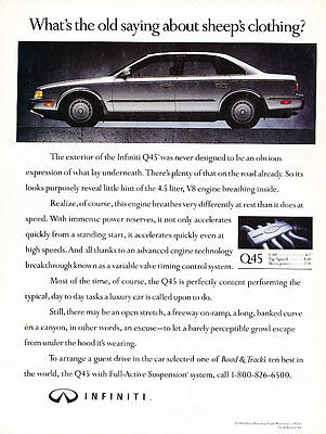 1991 Infiniti Q45 - sheeps clothing - Classic Vintage Advertisement Ad H07
