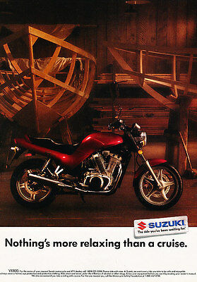 1991 Suzuki VX800 Motorcycle - Classic Vintage Advertisement Ad H07