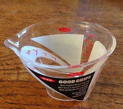OXO GOOD GRIPS MINI ANGLED MEASURING JUG 60ml 2 FL OZ