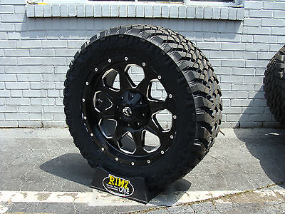 """20"""" Fuel Off Road BOOST Black Nitto Trail Grappler 35x12.50R20 35"""" Mud tires"""