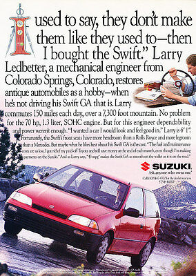 1994 Suzuki Swift - Larry - Classic Vintage Advertisement Ad D80