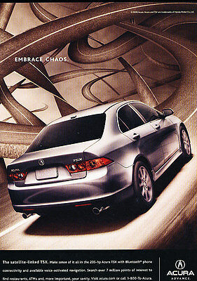 2007 Acura TSX - embrace chaos - Classic Vintage Advertisement Ad H14