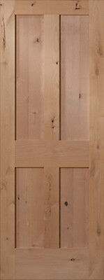 4 Panel Flat Shaker Knotty Alder Stain Grade Solid Core Interior Wood Door Doors