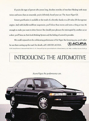 1992 Acura Vigor - 2 Page Ad - Classic Vintage Advertisement Ad D85