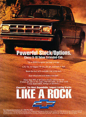 Classic Vintage Advertisement Ad D69 1994 Chevrolet Chevy S-Series Trucks