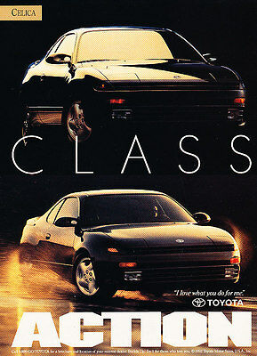 1993 Toyota Celica - Action - Classic Vintage Advertisement Ad D86
