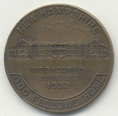 1932 New Hampshire ~ Dedication Odd Fellows Home Medal