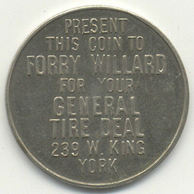 General Tire ~ York Pa. ~ Forry Willard~Shriners Medal
