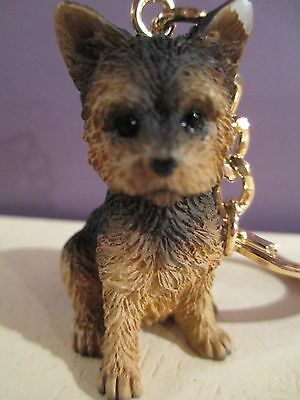 yorkshire  yorkie adorable puppy  key chain  great gift