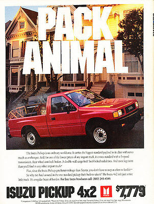 1990 Isuzu Pickup Truck - Pack - Classic Vintage Advertisement Ad D92