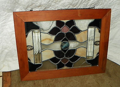 Mahogany Stained Glass Window  (HD101)
