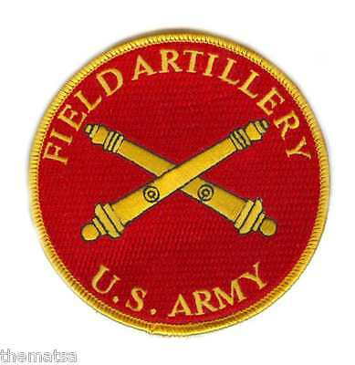 """Army Field Artillery 4"""" Embroidered Military Branch Patch"""