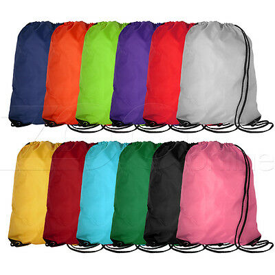Drawstring Sports Gym Swimming Dance Wash Boot Duffle Bag Backpack - All Colours