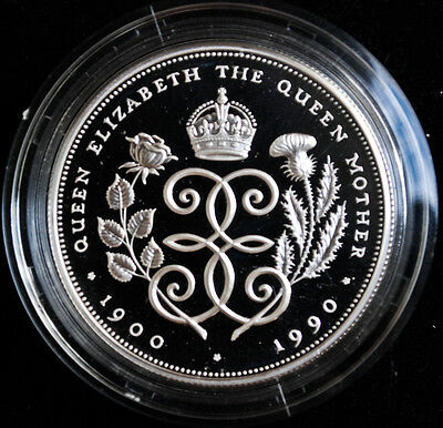 1990 Great Britain 5 Pounds - Queen Mother 90th Birthday Crown - Royal Mint