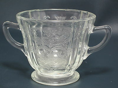 FEDERAL GLASS - Madrid - Clear - Depression Glass - OPEN SUGAR BOWL - FT