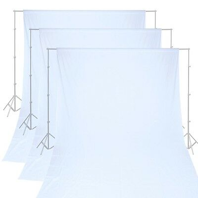 All-Size White Photo Backdrops 100% Cotton Muslin Studio Photography Background