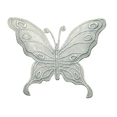 ID 2038 Lace Butterfly Patch Fairy Garden Decor Embroidered Iron On Applique