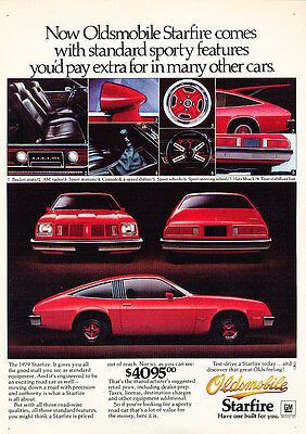 1979 Oldsmobile Starfire - Sporty - Classic Vintage Advertisement Ad D100
