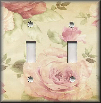 Light Switch Plate Cover - Shabby Chic Decor - Antique Rose Bloom - Home Decor