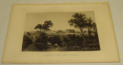 1871 Antique Print/ATHENS FROM THE ILISSUS (A River On The Outskirts)