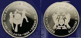 1996 St.Thomas Large Proof 1000 D USA Olympic Tennis