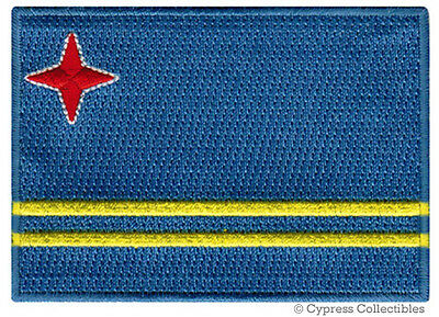 ARUBA FLAG embroidered iron-on PATCH CARIBBEAN EMBLEM