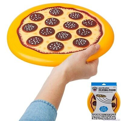 The Pizza Flying Disc - Pepperoni Flying Food - Frisbee Beach Fun - BigMouth Toy