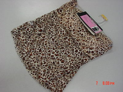 NWT Womens Long Lace Bandeau Camisole Strapless Leopard Print Browns SEXY