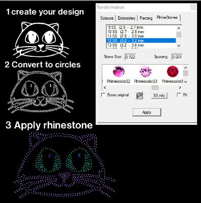 New Strass Rhinestone Software  - CUT with  Silhouette CAMEO die cutter !