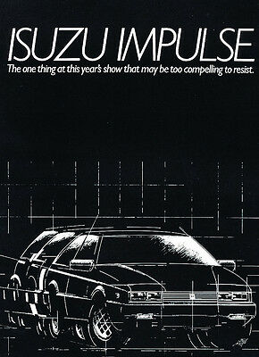 1983 Isuzu Impulse - Classic Vintage Advertisement Ad H20