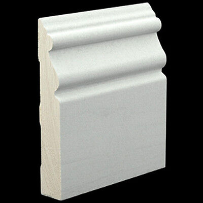 3/4 x 4-1/2 Primed Hardwood Poplar Beaded Base Molding Solid Wood Moulding Trim