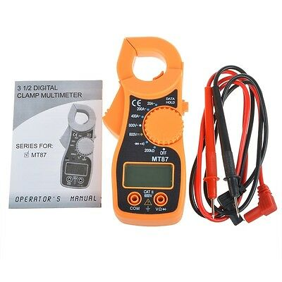 LCD Auto Digital Multimeter Electronic Tester AC/DC Clamp Meter