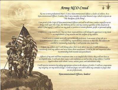 Army NCO Creed Personalize with Name Recognition, Graduates, Wall Decor Custom