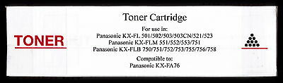 New KX-FA76 Fax Toner Cartridge for Panasonic KX-FLB755 KX-FLB756 KX-FLB758