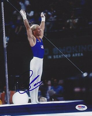 Bart Conner SIGNED 8x10 Photo Olympic Gymnastics Champ GOLD PSA/DNA AUTOGRAPHED