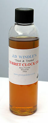 JD Windles Turret Clock Oil 100 ml- Best Quality Heavy Oil for the larger Clocks