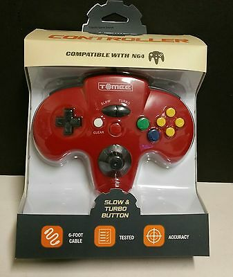 NEW Red Retro Tomee Controller Joystick for N64 NINTENDO 64