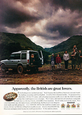 1997 Land Rover Discovery - Clouds - Classic Vintage Advertisement Ad D114
