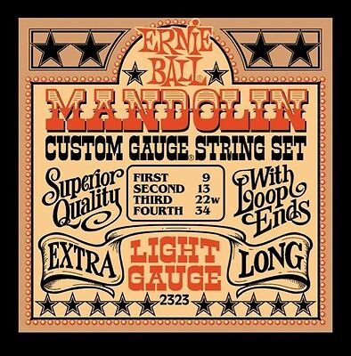 Ernie Ball 2323 Light Mandolin Guitar Strings with FREE US SHIPPING Acoustic NEW