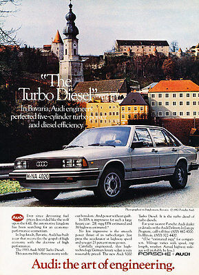 1983 Audi 5000 Turbo Diesel - Bavaria - Classic Vintage Advertisement Ad D116