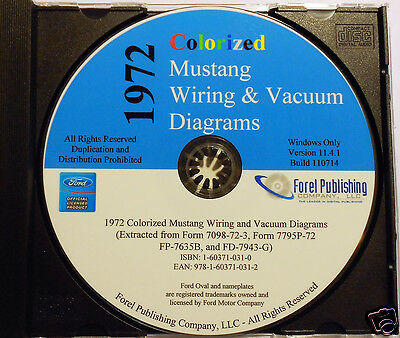 1972 Colorized Mustang Wiring Diagrams CD ROM 1966 colorized mustang wiring diagrams (cd rom) $16 95 picclick