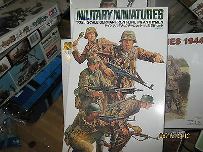 Tamiya Military Miniatures WWII German Front-Line Troops-1/35 Scale-FREE SHIP
