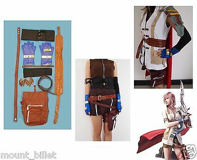 Brand new Final Fantasy XIII Lightning Halloween Cosplay Costume