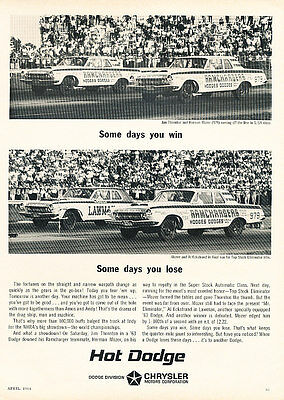 1963 Dodge Ramchargers Classic Advertisement Ad P82